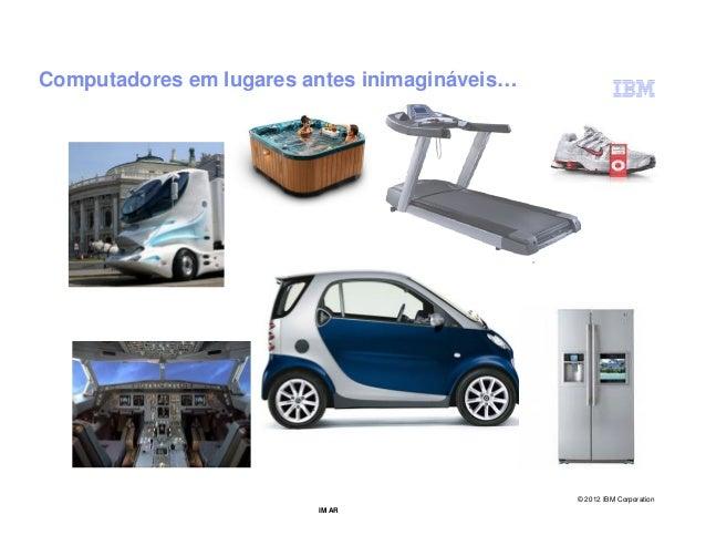 Computadores em lugares antes inimagináveis…                                               © 2012 IBM Corporation         ...