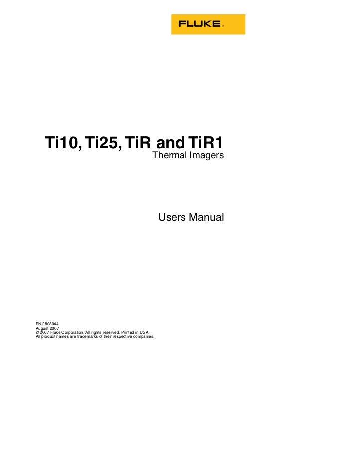 Ti10, Ti25, TiR and TiR1                                                             Thermal Imagers                      ...