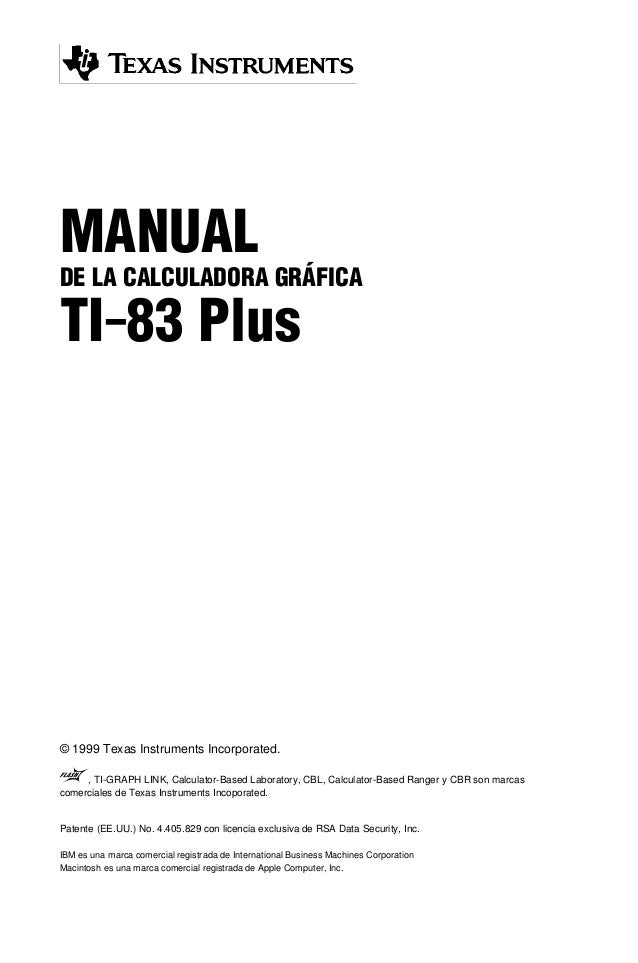 Ti 83 plus instruction manual texas instruments graphing.