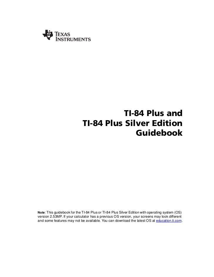 TI 84/84+Guidebook