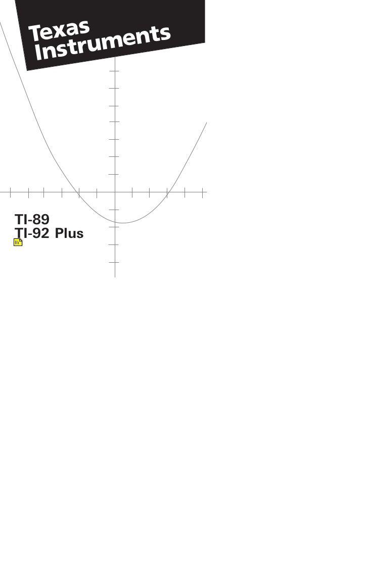 TI-89TI-92 Plus