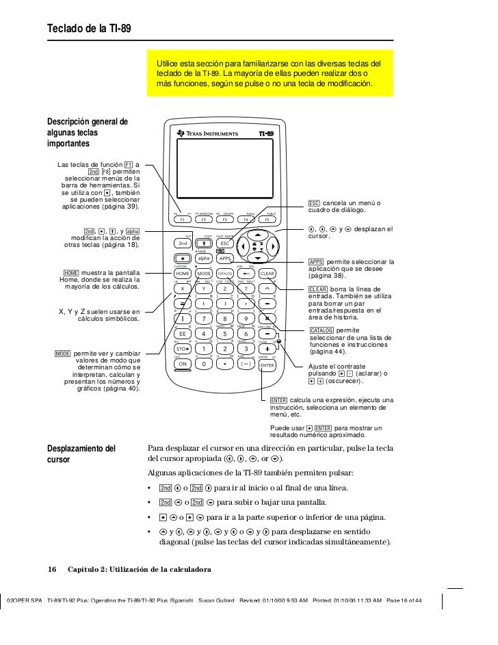 Manual en Español Ti92plus