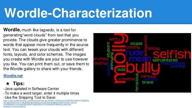 Tia 2014 engaging project choices using technology 13 wordle characterization wordle much like tagxedo freerunsca Choice Image