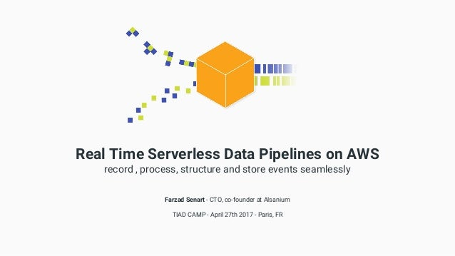 Real Time Serverless Data Pipelines on AWS record , process, structure and store events seamlessly Farzad Senart - CTO, co...