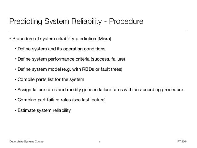 Dependable Systems -Reliability Prediction (9/16)