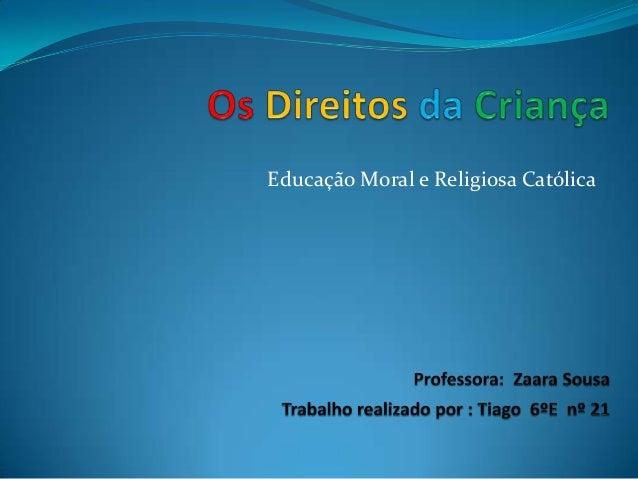 Educação Moral e Religiosa Católica