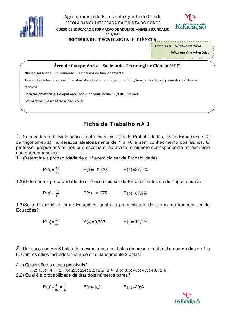 Agrupamento de Escolas da Quinta do Conde                             ESCOLA BÁSICA INTEGRADA DA QUINTA DO CONDE          ...