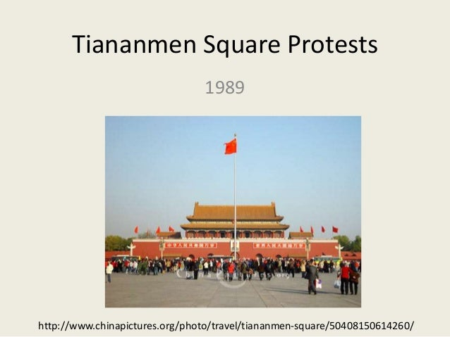Tiananmen Square Protests 1989 http://www.chinapictures.org/photo/travel/tiananmen-square/50408150614260/