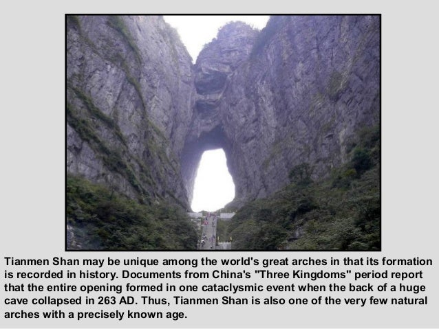 At the western side of themountain summit you canfind the newly builtTianmen Temple with anarea of 109,000 squarefeet (10,...