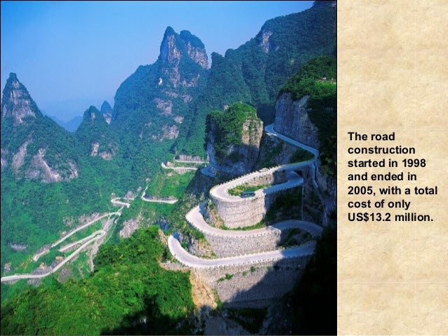 The roadconstructionstarted in 1998and ended in2005, with a totalcost of onlyUS$13.2 million.