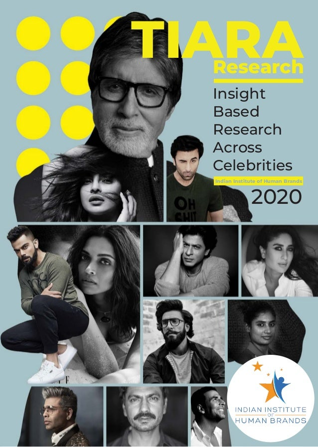 TIARAResearch Insight Based Research Across Celebrities Indian Institute of Human Brands 2020