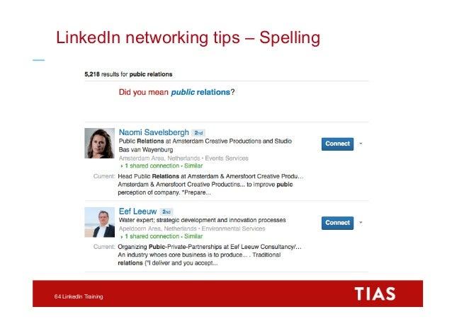 1aceee00fed2bf LinkedIn networking tips – Apps 65 LinkedIn Training  64.