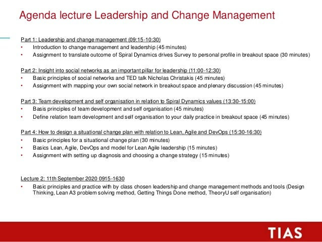 TIAS MIM Lecture Frank Willems at may 9th 2020 about Leadership and Change Management Slide 3