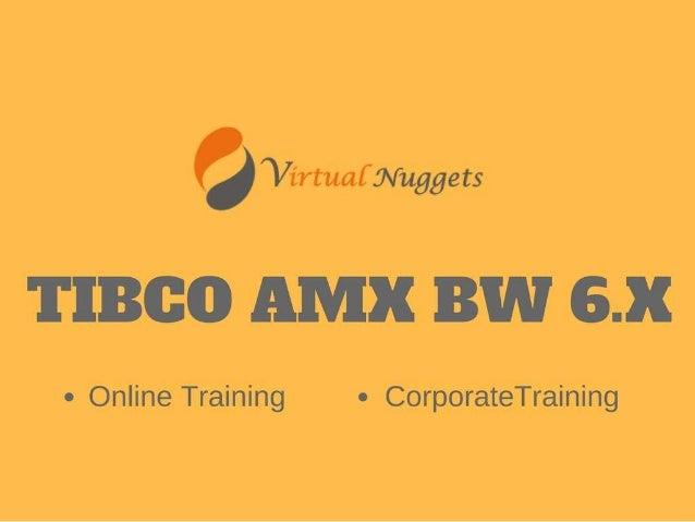 TIBCO AMX BW 6.X Online Training   Tutorials   Demo