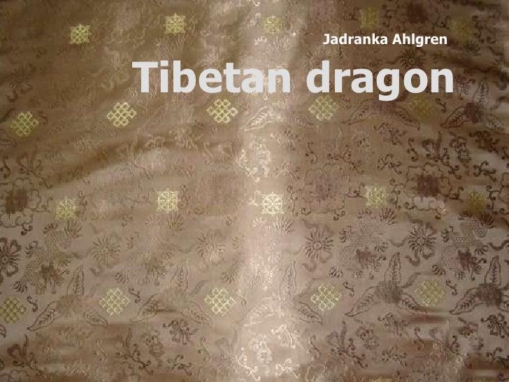 Jadranka Ahlgren<br />Tibetan dragon<br />