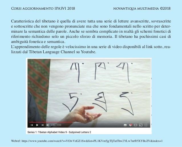 Strumenti per la trascrizione fonetica semplificata nella documentazione medica  in lingua tibetana. Slide 3