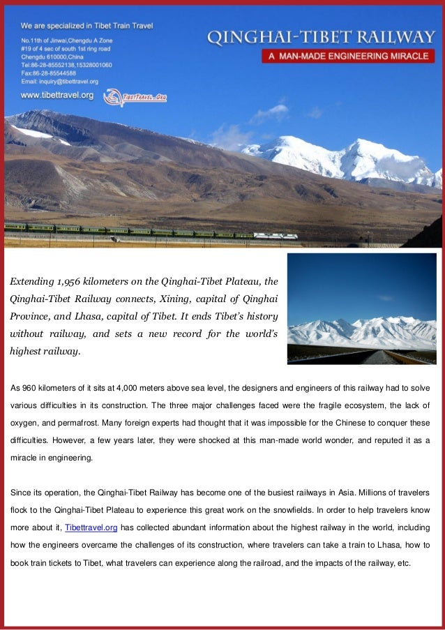 Extending 1,956 kilometers on the Qinghai-Tibet Plateau, the Qinghai-Tibet Railway connects, Xining, capital of Qinghai Pr...