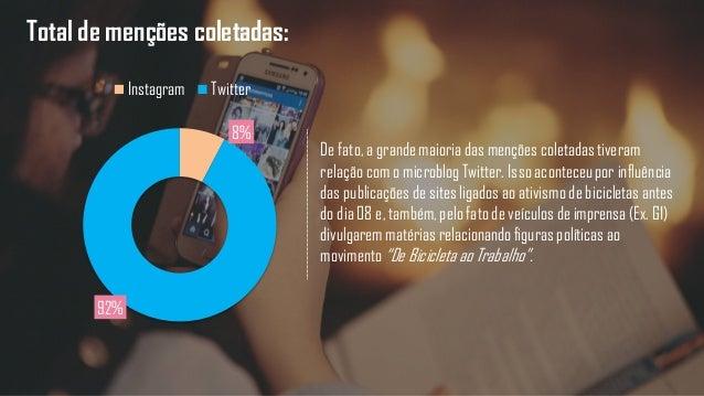 Total de menções coletadas: De fato, a grande maioria das menções coletadas tiveram relação com o microblog Twitter. Isso ...