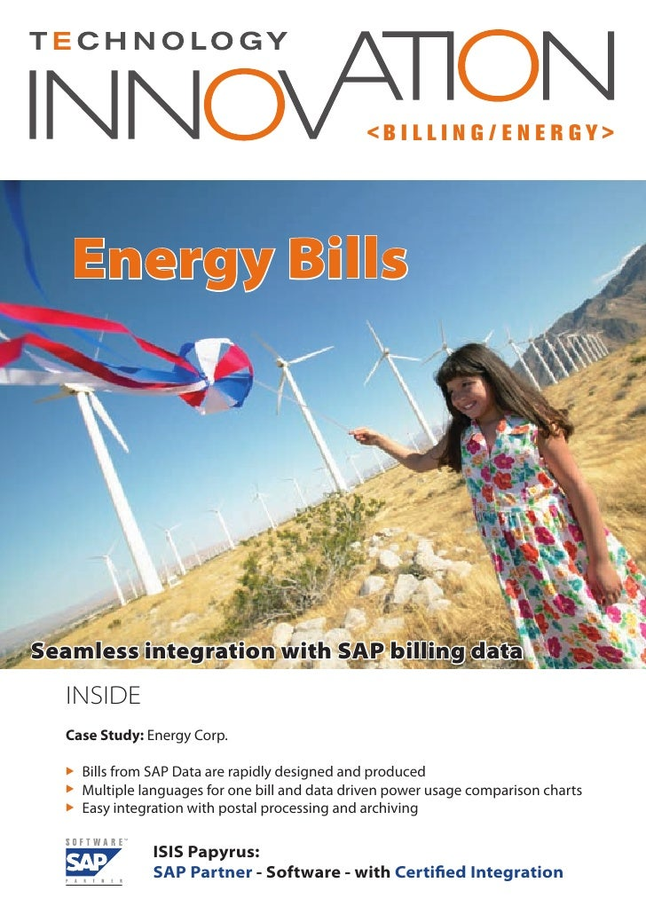 <B I LLI N G / E N E R GY>        Energy Bills     Seamless integration with SAP billing data   INSIDE   Case Study: Energ...