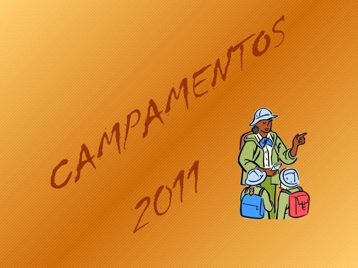 CAMPAMENTOS 2011