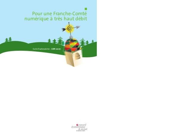 Pour une Franche-Comté  numérique à très haut débit  Suivi d'autosaisine - JUIN 2007