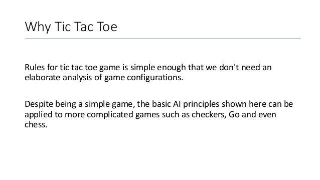 AI based Tic Tac Toe game using Minimax Algorithm