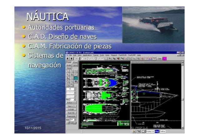 10/11/201510/11/2015 1616 NNÁÁUTICAUTICA •• Autoridades portuariasAutoridades portuarias •• C.A.D. DiseC.A.D. Diseñño de n...