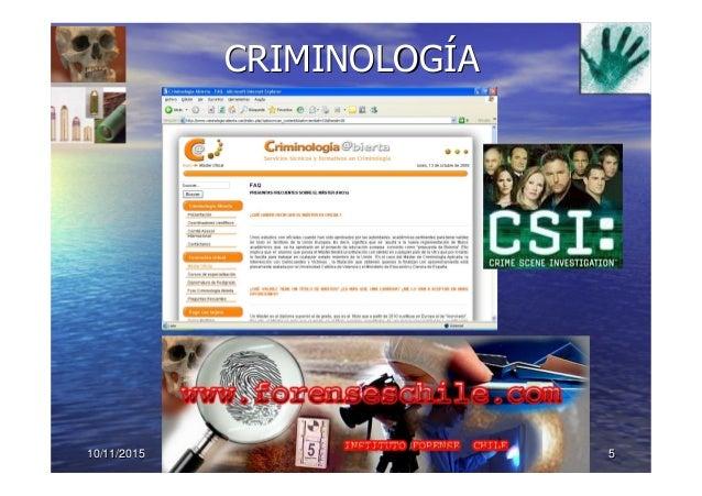 10/11/201510/11/2015 55 CRIMINOLOGCRIMINOLOGÍÍAA