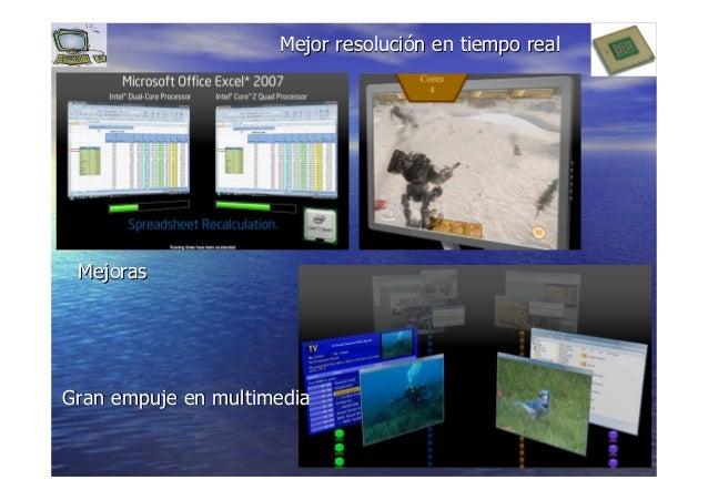 1414 MejorasMejoras MejorMejor resoluciresolucióón en tiempo realn en tiempo real Gran empuje en multimediaGran empuje en ...