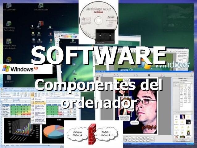 11 SOFTWARESOFTWARE Componentes delComponentes del ordenadorordenador