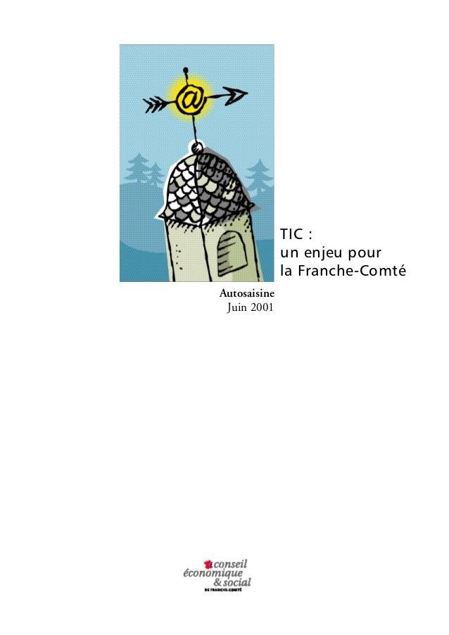 TIC :  un enjeu pour  la Franche-Comté  Autosaisine  Juin 2001