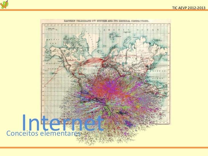 TIC AEVP 2012-2013    InternetConceitos elementares