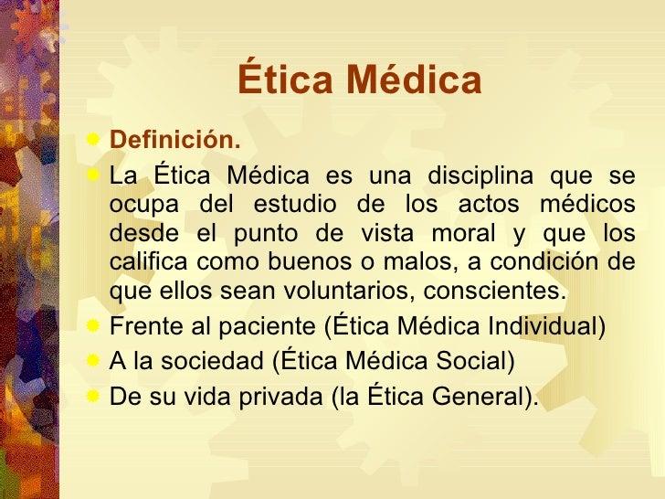 Etica medica for Definicion de gastronomia pdf