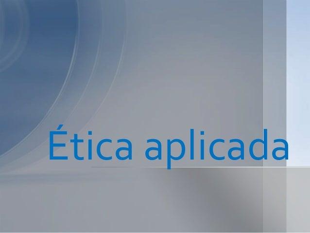 Ética aplicada