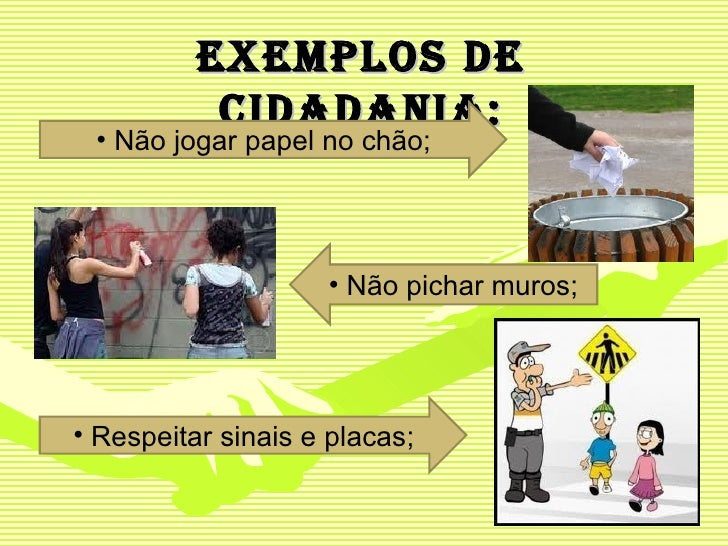 Exemplos de cidadania