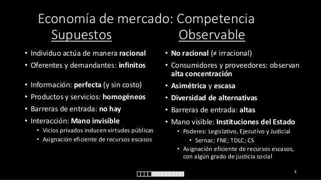 Economía de mercado: Competencia Supuestos Observable • Individuo actúa de manera racional • Oferentes y demandantes: infi...