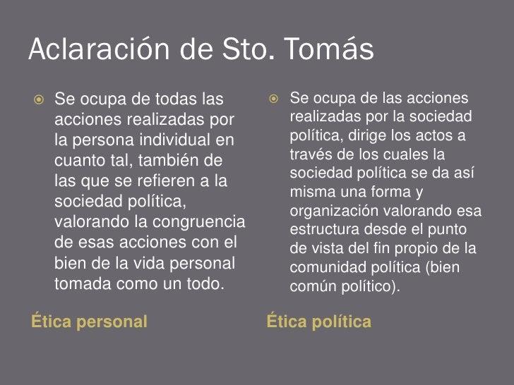 Aclaración de Sto. Tomás    Se ocupa de todas las         Se ocupa de las acciones     acciones realizadas por        re...