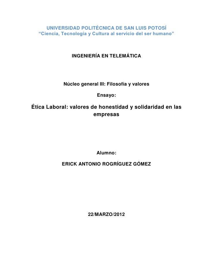 """UNIVERSIDAD POLITÉCNICA DE SAN LUIS POTOSÍ  """"Ciencia, Tecnología y Cultura al servicio del ser humano""""                INGE..."""
