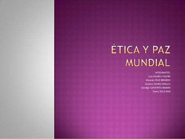 ETICA Y PAZ MUNDIAL EPUB