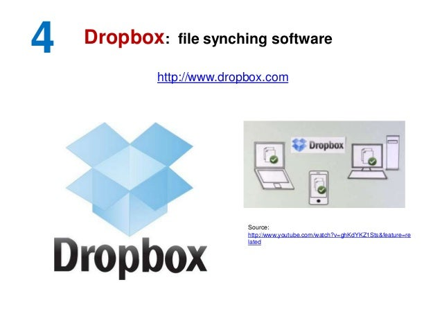 4 http://www.dropbox.com Dropbox: file synching software Source: http://www.youtube.com/watch?v=ghKdYKZ1Sts&feature=re lat...