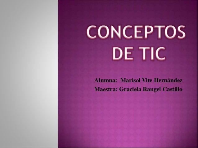 Alumna: Marisol Vite Hernández Maestra: Graciela Rangel Castillo
