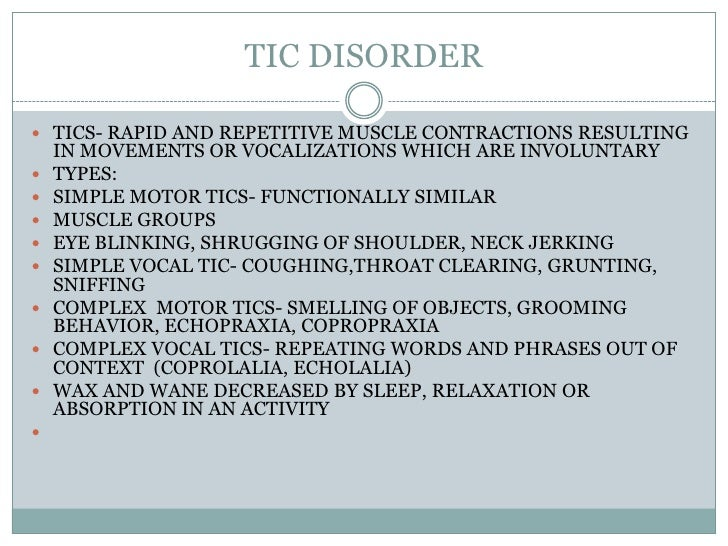 "a study on tourette syndrome and other tic disorders Behavioral therapy for tic disorder (td) or tourette syndrome (ts)  other  references the following statements are quoted verbatim from the referenced  supporting  ""in summary, studies indicate that hr is effective for both vocal and  motor."