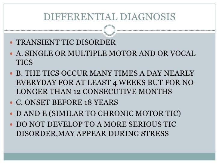 Tic Disorder