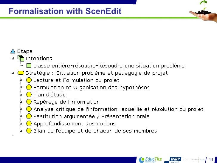 Formalisation with ScenEdit