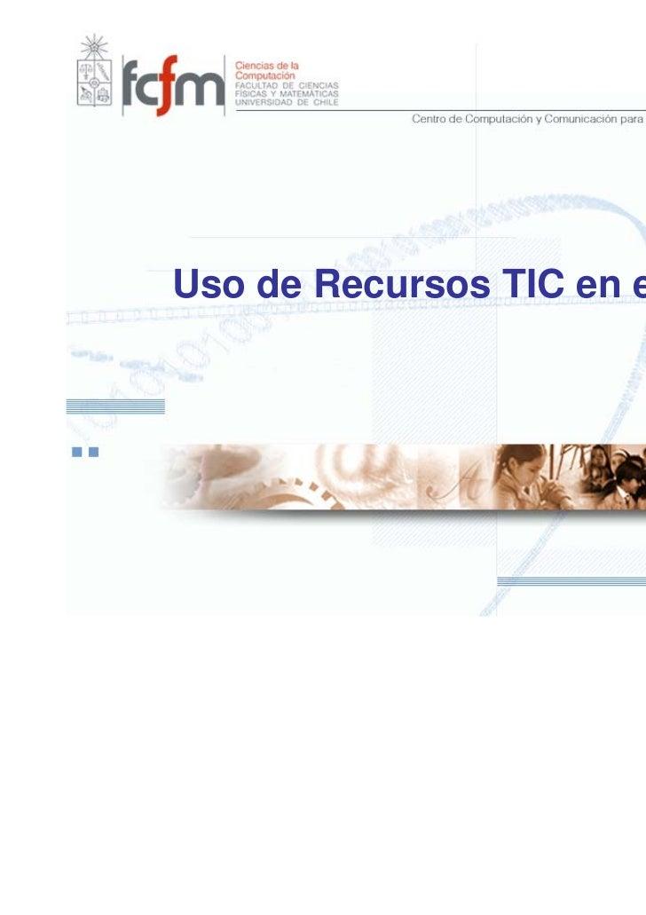 Uso de Recursos TIC en el Aula