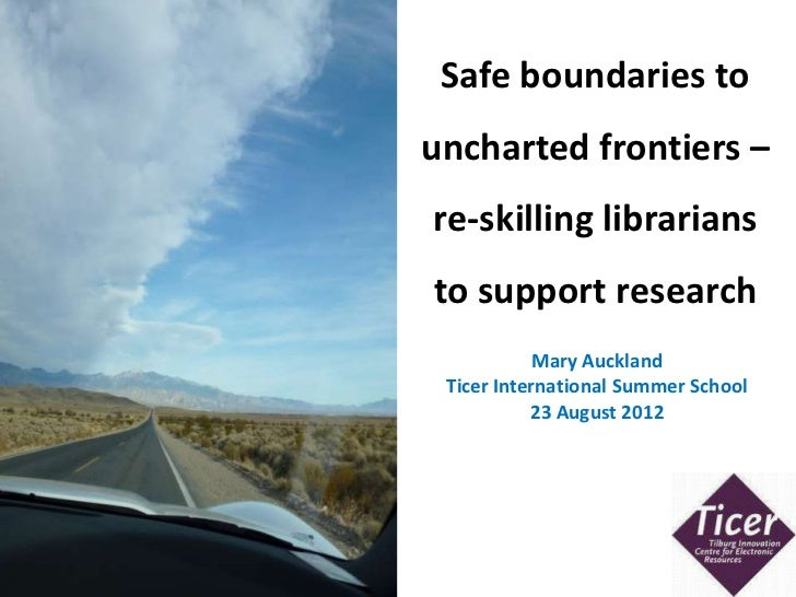 Safe boundaries to                                                        uncharted frontiers –                           ...