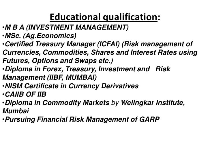 Treasury and forex management courses in mumbai