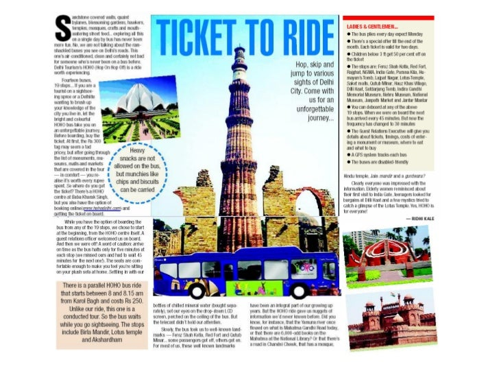 HoHo Service in Delhi - Ticket to Ride