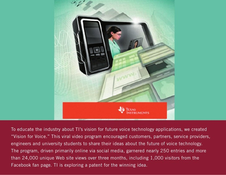 """To educate the industry about TI's vision for future voice technology applications, we created""""Vision for Voice."""" This vir..."""