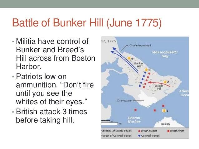 Ticonderoga Amp Bunker Hill